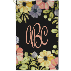 Boho Floral Golf Towel - Full Print - Small w/ Monogram