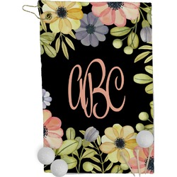 Boho Floral  Golf Towel - Full Print (Personalized)