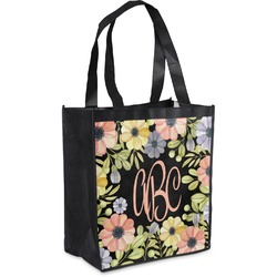 Boho Floral Grocery Bag (Personalized)