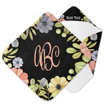 Boho Floral Hooded Baby Towel (Personalized)