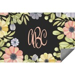 Boho Floral Indoor / Outdoor Rug (Personalized)