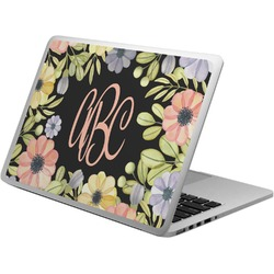 Boho Floral Laptop Skin - Custom Sized (Personalized)