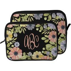 Boho Floral  Laptop Sleeve / Case (Personalized)