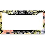 Boho Floral License Plate Frame (Personalized)