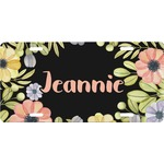 Boho Floral Front License Plate (Personalized)
