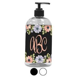 Boho Floral Plastic Soap / Lotion Dispenser (Personalized)