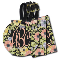 Boho Floral Plastic Luggage Tags (Personalized)
