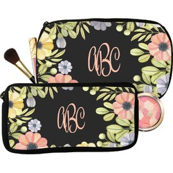 Boho Floral  Makeup / Cosmetic Bag (Personalized)