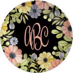 Boho Floral Melamine Plate (Personalized)