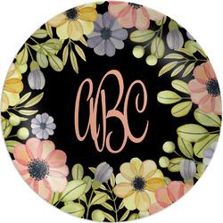 "Boho Floral  Melamine Plate - 8"" (Personalized)"
