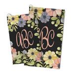 Boho Floral Microfiber Golf Towel (Personalized)