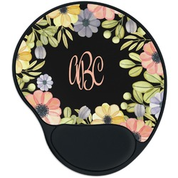 Boho Floral Mouse Pad with Wrist Support