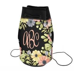 Boho Floral Neoprene Drawstring Backpack (Personalized)