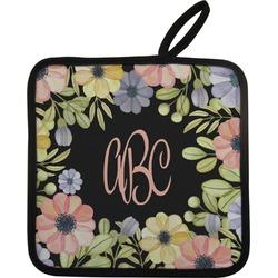 Boho Floral Pot Holder (Personalized)