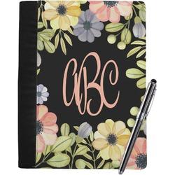 Boho Floral Notebook Padfolio - Large w/ Monogram