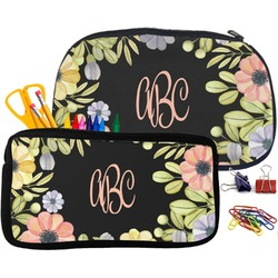 Boho Floral Pencil / School Supplies Bag (Personalized)