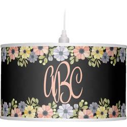 Boho Floral  Drum Pendant Lamp (Personalized)