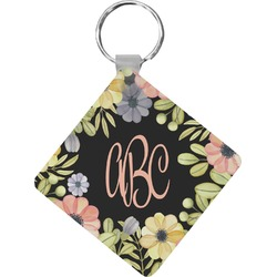 Boho Floral Diamond Key Chain (Personalized)