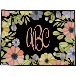 Boho Floral Door Mat (Personalized)