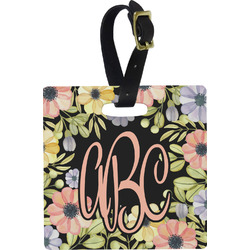 Boho Floral Square Luggage Tag (Personalized)