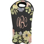 Boho Floral Wine Tote Bag (2 Bottles) (Personalized)