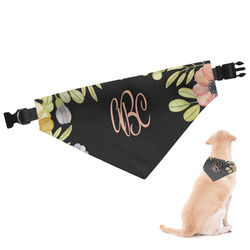 Boho Floral Dog Bandana (Personalized)