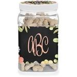 Boho Floral Dog Treat Jar (Personalized)