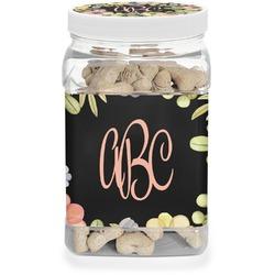 Boho Floral Pet Treat Jar (Personalized)
