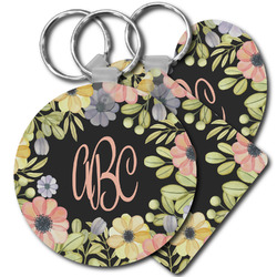 Boho Floral Plastic Keychains (Personalized)