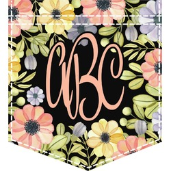 Boho Floral Iron On Faux Pocket (Personalized)