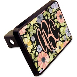 "Boho Floral Rectangular Trailer Hitch Cover - 2"" (Personalized)"