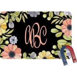 Boho Floral  Rectangular Fridge Magnet (Personalized)