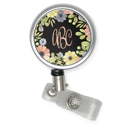 Boho Floral Retractable Badge Reel (Personalized)