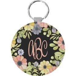 Boho Floral Round Keychain (Personalized)
