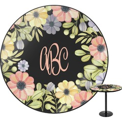 Boho Floral Round Table (Personalized)