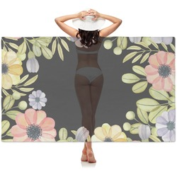 Boho Floral  Sheer Sarong (Personalized)