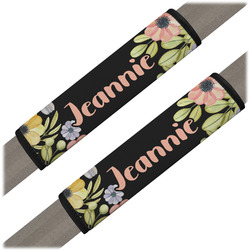 Boho Floral Seat Belt Covers (Set of 2) (Personalized)