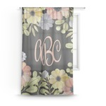Boho Floral Sheer Curtains (Personalized)