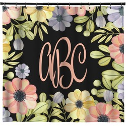 Boho Floral Shower Curtain (Personalized)