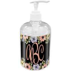 Boho Floral Acrylic Soap & Lotion Bottle (Personalized)