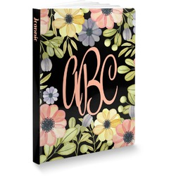 """Boho Floral Softbound Notebook - 7.25"""" x 10"""" (Personalized)"""