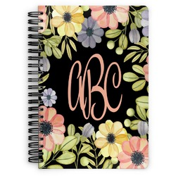 Boho Floral Spiral Bound Notebook (Personalized)
