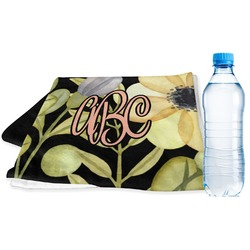Boho Floral Sports & Fitness Towel (Personalized)