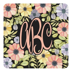 Boho Floral Square Decal - Custom Size (Personalized)