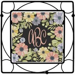 Boho Floral Square Trivet (Personalized)
