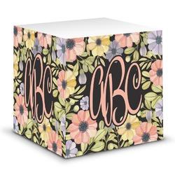 Boho Floral Sticky Note Cube (Personalized)