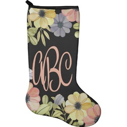 Boho Floral Christmas Stocking - Neoprene (Personalized)