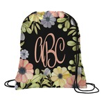 Boho Floral Drawstring Backpack (Personalized)
