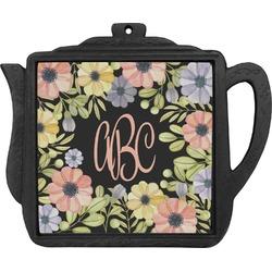 Boho Floral Teapot Trivet (Personalized)