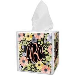 Boho Floral  Tissue Box Cover (Personalized)